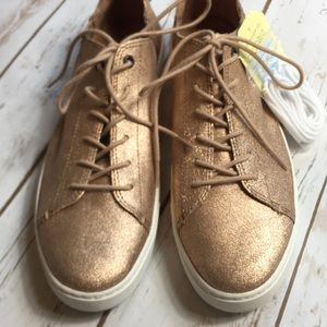 Toms Gold Shoes Womens Size 11 Glitter Sneaker NWT